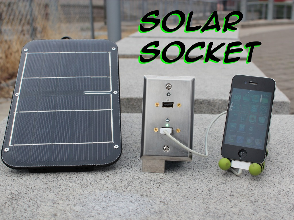 Solar Socket: Solar Powered USB Wall Socket's video poster