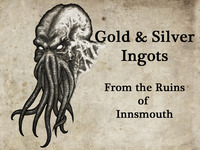Cthulhu Gold & Silver Ingots; From the Ruins of Innsmouth