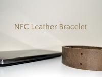 The First Leather NFC Bracelet - With 3 Chips!