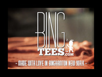 Bing Tees! Made with love in Binghamton, NY.