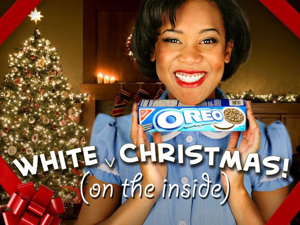 White (on the inside) Christmas's video poster