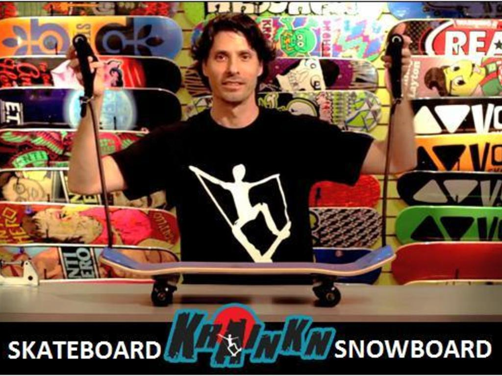 Skateboard. SAFE, FUN, EASY TO LEARN. Krainkn Snowboard too.'s video poster