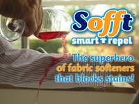 Sofft: Blocks Stains & Softens Clothes!