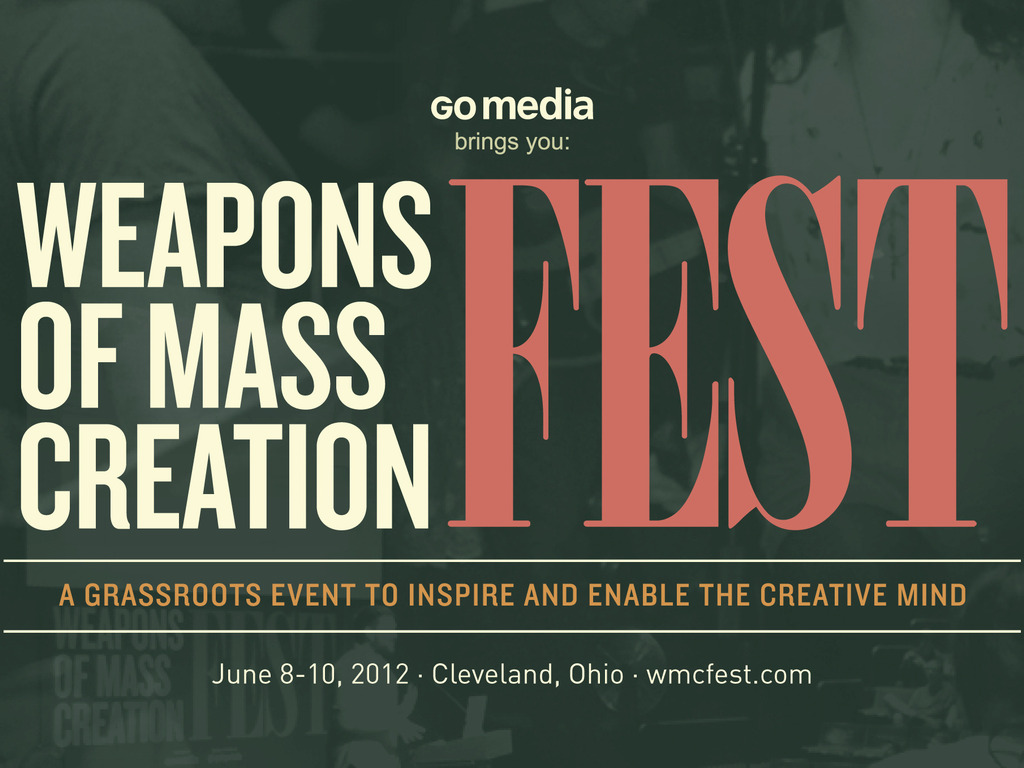 Weapons of Mass Creation Fest 2012's video poster