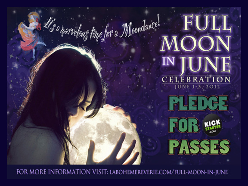 The Full Moon in June Celebration's video poster
