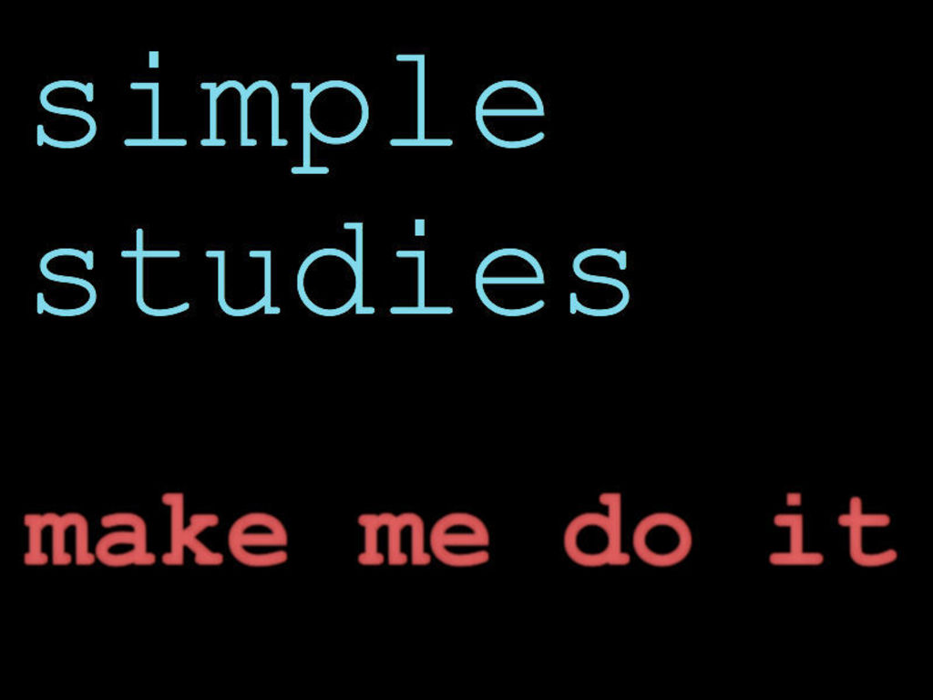 Make Me Do It - Simple Studies' First Album!'s video poster