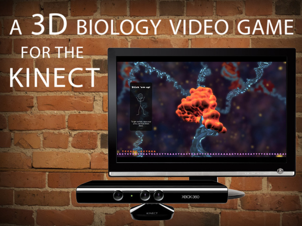 A 3D Biology Video Game for the Kinect's video poster