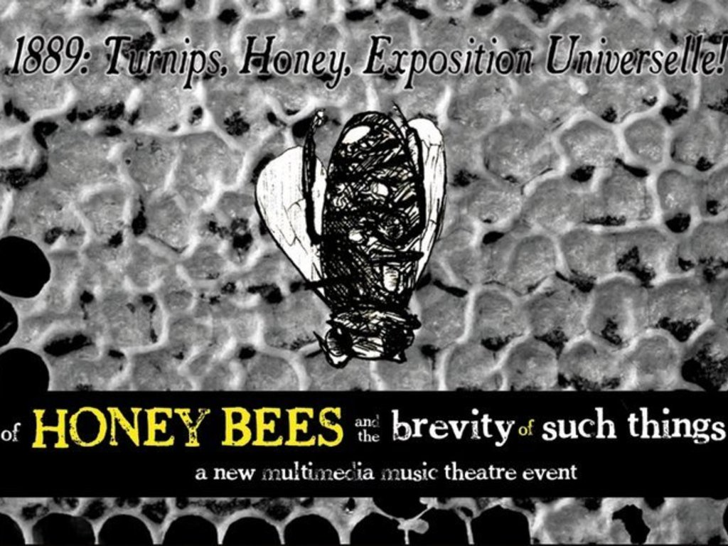 of Honey Bees and the Brevity of Such Things -- a New Multimedia Music Theatre Event!'s video poster