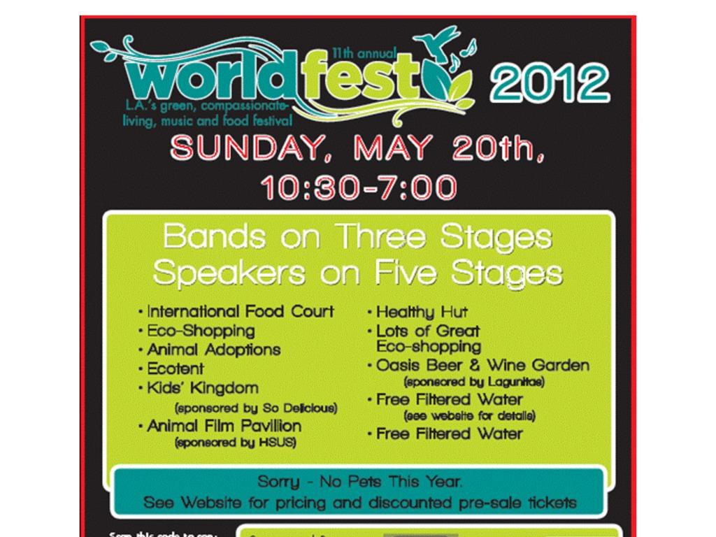 WorldFest 2012's video poster