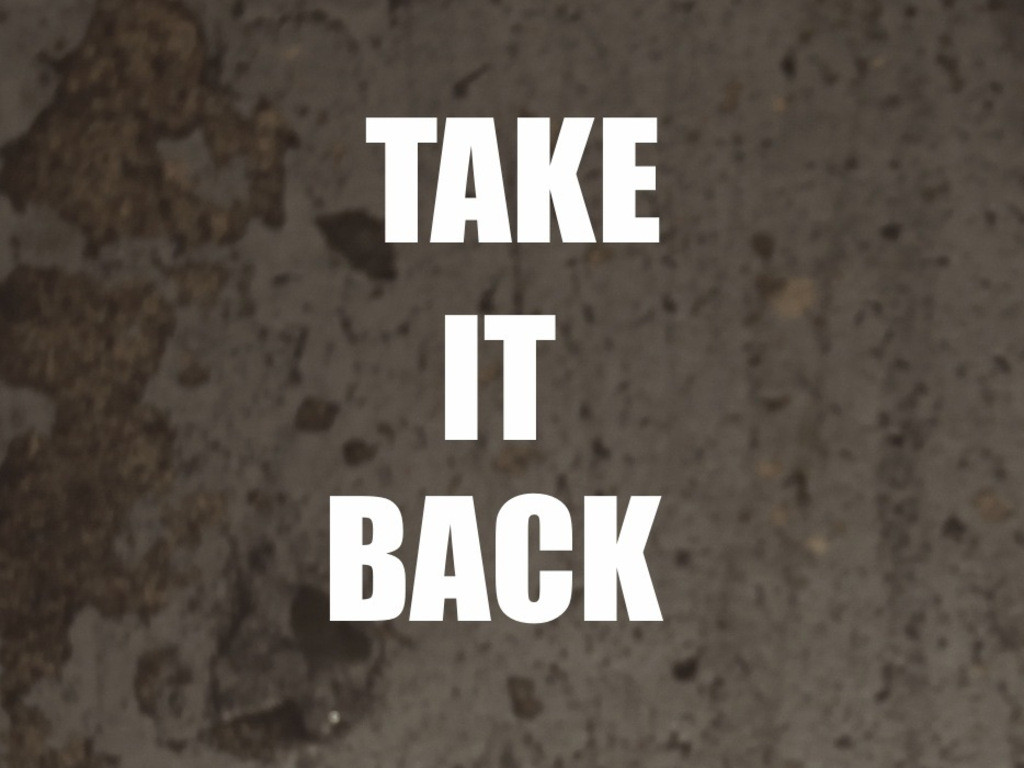 Take It Back's video poster