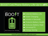 Fusion Battery Boost: Extended Battery Life. Energy Savings.