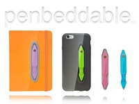 Penbeddable: an embedded flat pen, there when you need it!