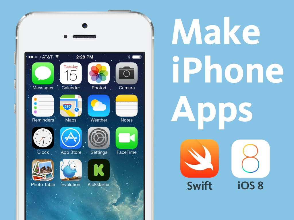 Make iPhone apps + Apple Watch apps with Swift for iOS 8's video poster