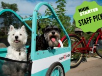 The pupRUNNER® bike trailer for dogs