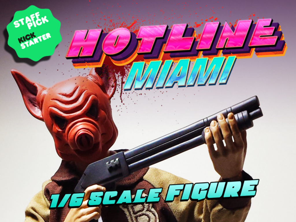 HOTLINE MIAMI- JACKET FIGURE's video poster