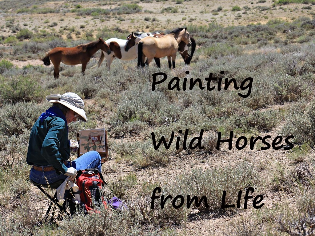 Painting Wild Horses from Life's video poster