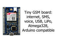 MicroLink GSM - tiny, Arduino compatible, rapid prototyping
