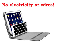 A IPad Keyboard That Works Without Electricity Or Wires!
