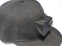 """GoPro spandex pouch Hat(snapback) """"See-you-later Head Mount"""""""