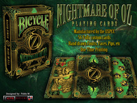 NIGHTMARE OF OZ Bicycle® Playing Cards by 4PM DESIGNS