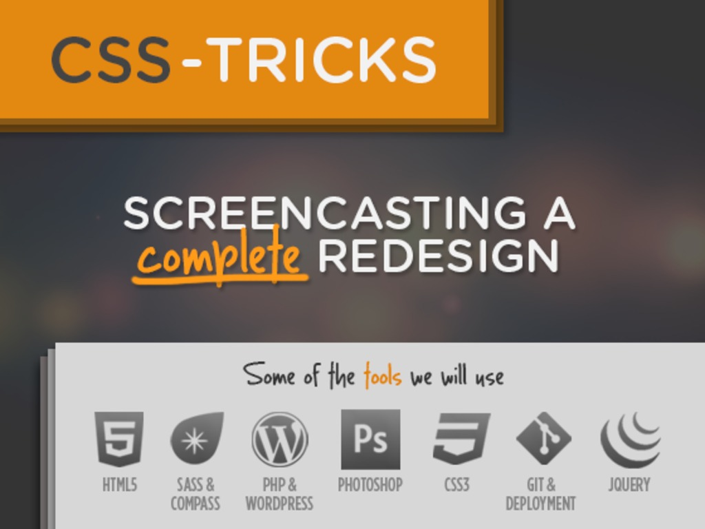 Screencasting a Complete Redesign's video poster