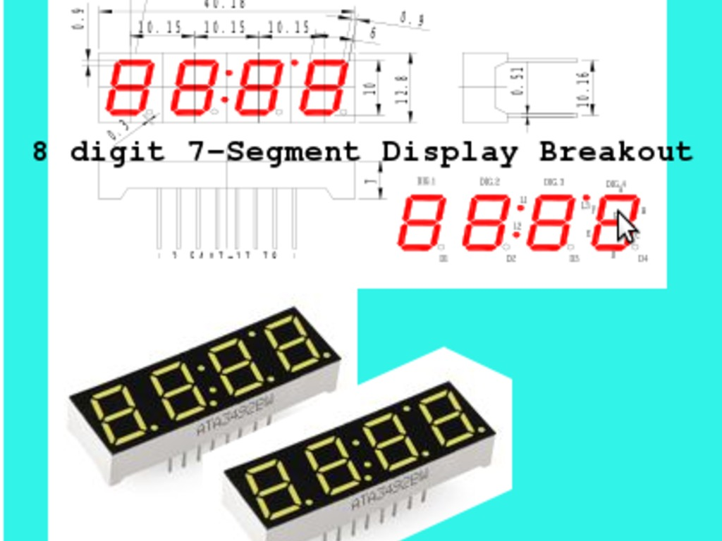 8 Digit 7-Segment Breakout Board (Arduino or MCU with I2C)'s video poster
