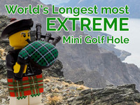 Worlds longest most extreme mini golf hole