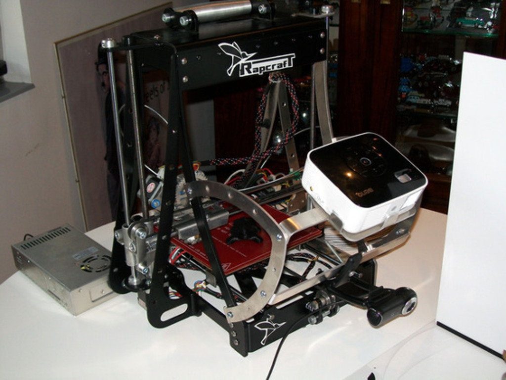 Rapcraft: Rapid Prototyping opensource 3D Printer's video poster