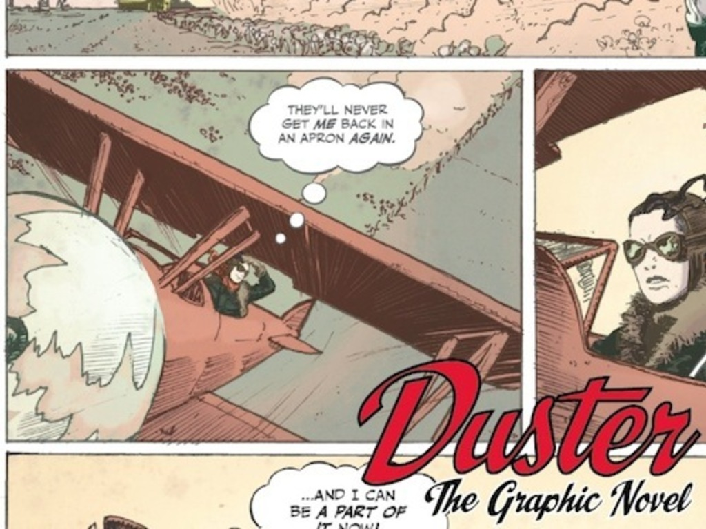 DUSTER: The Graphic Novel's video poster