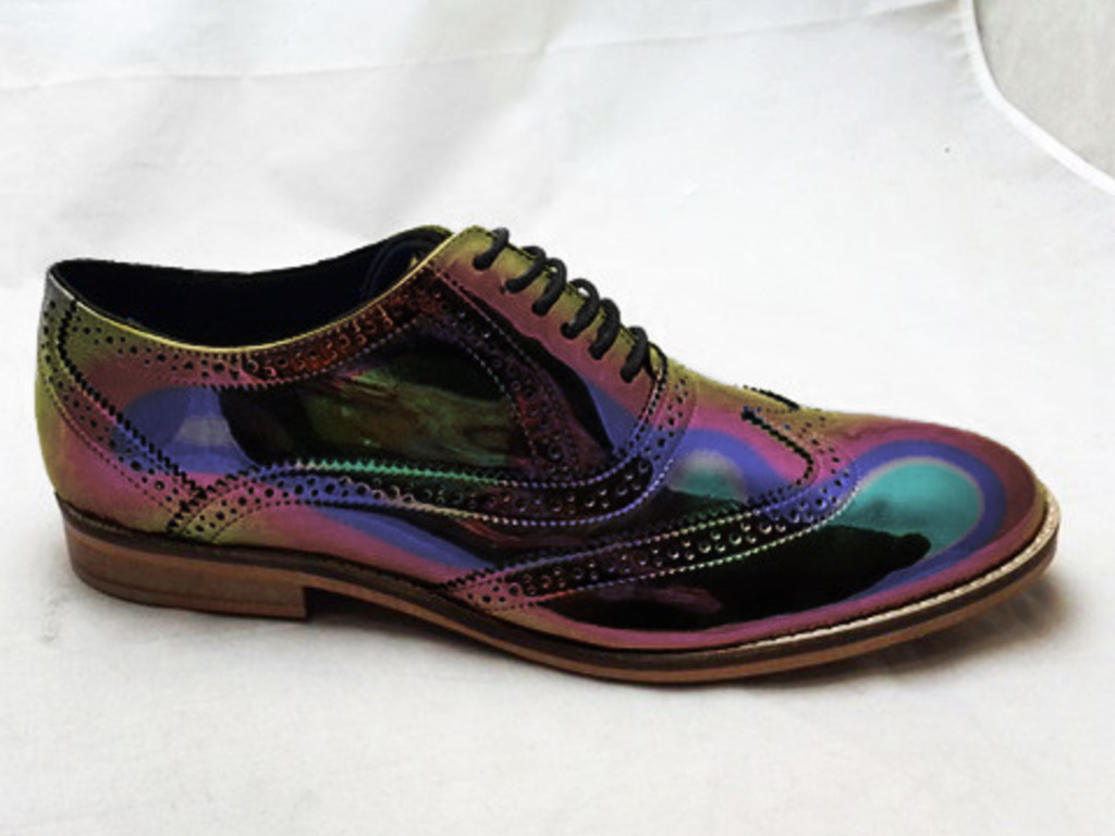 holographic brogue shoes for leather by