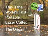 The Origami | A portable, folding-arm laser cutter