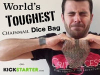 World's Toughest Chainmail Dice Bag
