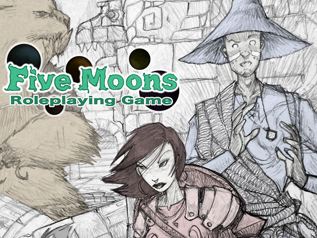 Five Moons RPG cover sketch