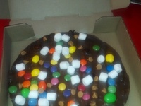 Chocolate pizza !