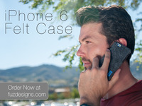 Felt Case for iPhone 6 and iPhone 6 Plus by FŪZ Designs