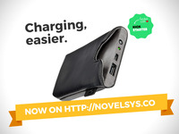 Ampere: wireless charging sleeve for iPhone and Android