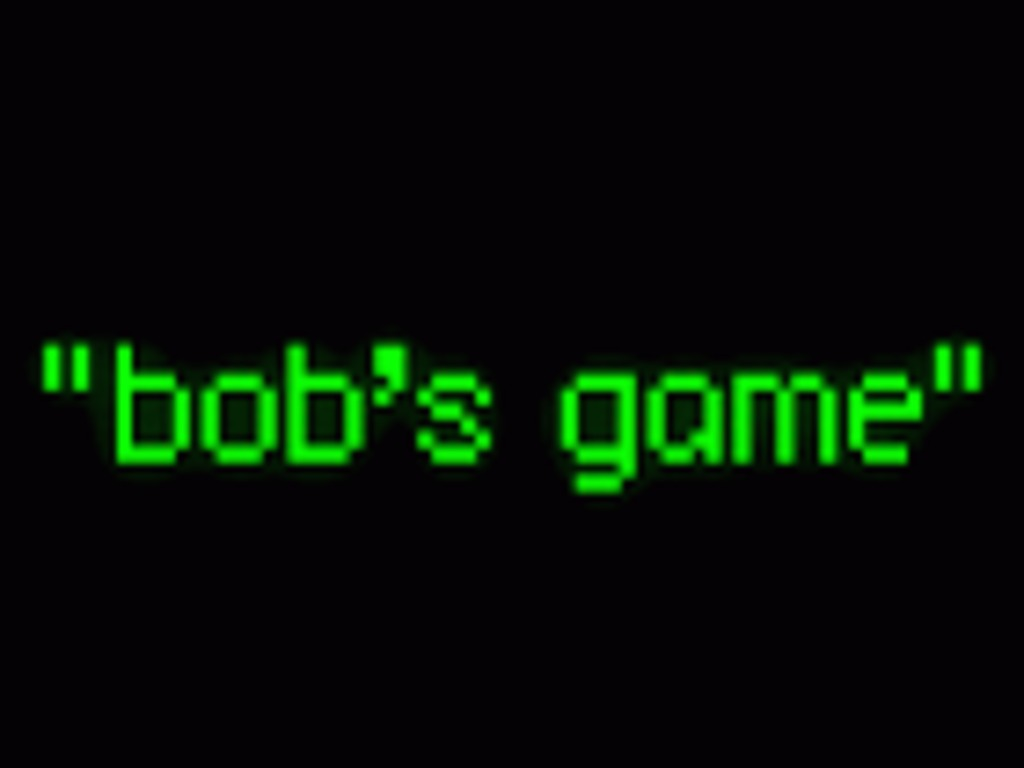 """""""bob's game""""'s video poster"""