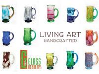 Living Art-Custom glass mugs at Art Prize