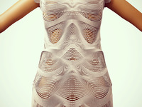 3D Printed Dress with flexible material