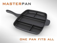 Master Pan: one burner kitchen tool for cooking food faster
