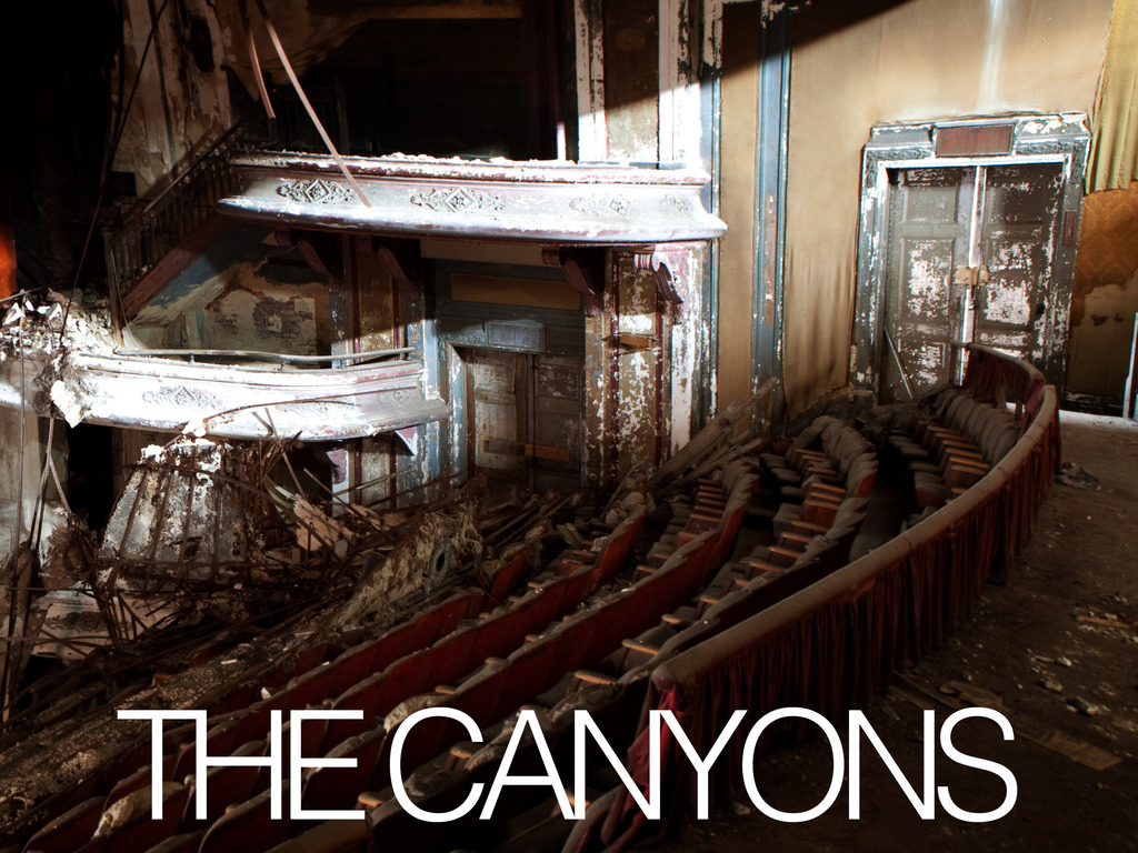 The Canyons's video poster