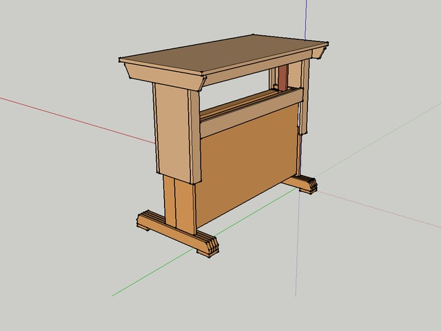 Sit Stand Desk Designs : Sit stand desk prototype for diy plans by jeff breeden