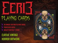 Bicycle Eerie Playing Cards (Vintage Horror Theme)