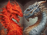 The Sun & The Moon Dragons by Kerem Beyit