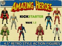 Amazing Heroes Wave 1.5 Retro Super Hero Action Figures