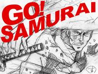 """""""Go! Samurai"""" - An animated short film by Keiichiro Kimura"""