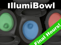 IllumiBowl Clip-On Toilet Night Light (Motion Activated)