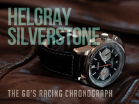 Helgray Silverstone - The 60's Racing Chronograph Watch