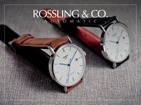 Rossling & Co - Ultra-Thin Automatic Watches & Suede Straps