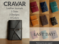 CRAVAR Leather Journal / Notebook / Sketchbook Made to Last